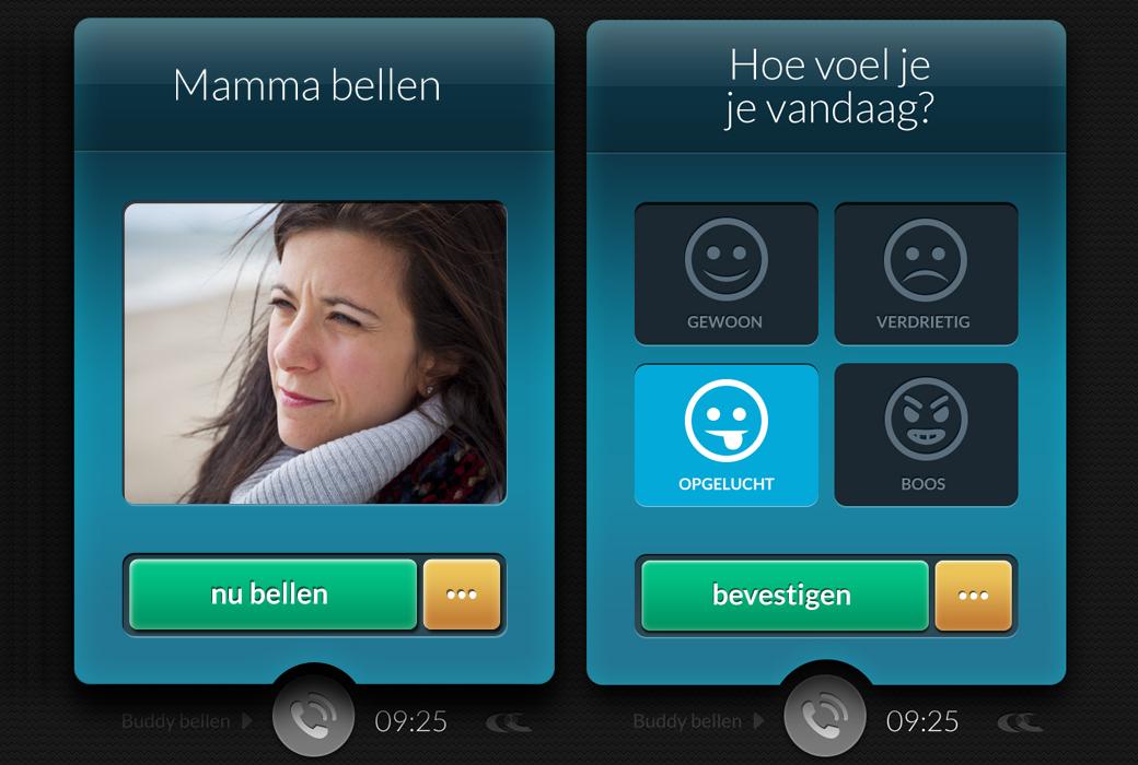 Screenshot mobiele applicatie
